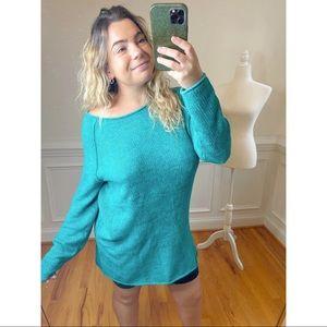 NWT Free People Aquamarine Combo Sweater Tunic